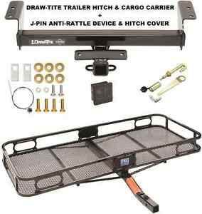 Trailer Hitch Cargo Basket Carrier Silent Pin Lock Fits 16 19 Toyota Tacoma