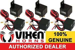 Bundle Of 3 4 Pin Horn Relay 30a 12v W Pre Wired Plug Socket Harness Vxk7801 3