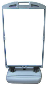 Two Sided Deluxe Sidewalk Message Board Wind Sign Only No Panels