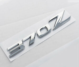 1 Brand New 370z 3d Self Adhesive Badge Emblem Fits Nissan 370z Chrome Finish