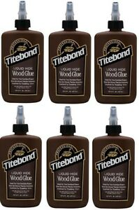 6 Franklin 5013 Titebond 8 Ounce Liquid Hide Professional Cabinet Wood Glue