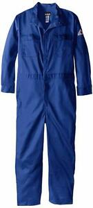 Bulwark Flame Resistant 9 Oz Cotton Premium Concealed Snap Coverall 48 Long