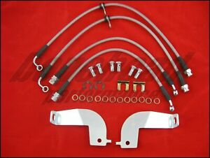 Techna fit Stainless Steel Braided Brake Lines 1999 2004 Ford Mustang Gt Cobra