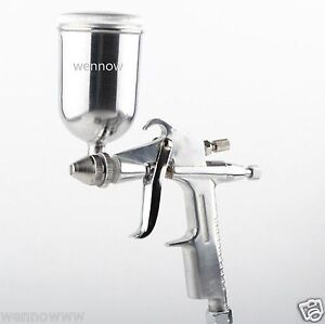 Mini 0 5mm Hvlp Paint Spraying Gravity Air Feed Spray Gun Air Brush W 125ml Cup
