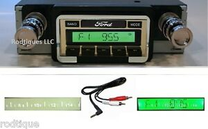 1966 1967 Ford Ranchero Radio W Free Aux Cable 230 Stereo Custom Fit Dash