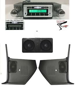 1967 Chevelle El Camino Malibu Radio Dual Dash Speaker Kick Panels No Ac