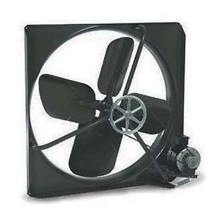 Exhaust Fan Commercial Belt Driven 24 115 Volt 3 900 Cfm 550 Rpm