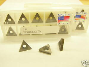 20 New Tpgb 322 Grade C5 Steel Usa Carbide Inserts S236