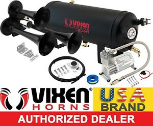 Train Horn Kit For Truck Car Pickup Loud System 1 5g Air Tank 150psi 3 Trumpets