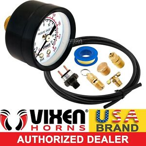 Onboard Train Horn Air Tank Installation Kit W Gauge switch valve hose Vxk1599