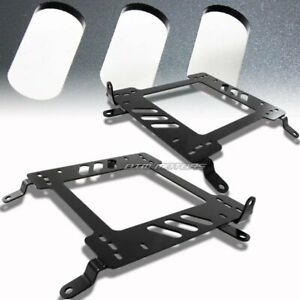 2 X Steel Planted Racing Seat Mount Bracket For 02 06 Mits Lancer evo 7 8 Ct9a