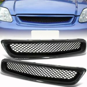 Black Jdm Mesh Style Abs Front Grille For 96 98 Honda Civic Dx Cx Ex Gx Hx Lx Si