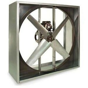 Exhaust Fan Industrial Belt Driven 48 115 230v 20 500 Cfm 470 Rpm 1hp