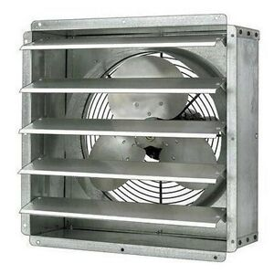 12 Exhaust Fan 1 580 Cfm 115 Volt Direct Drive 1ph 1 16 Hp 2 2 Amps