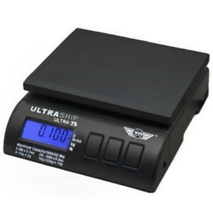 My Weigh Ultraship 75 Black 75lb Capacity Shipping Scale Scmultra75b