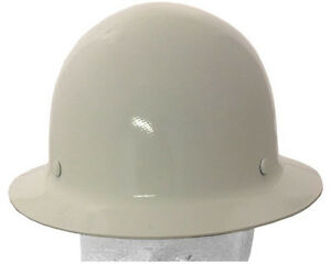Msa Skullguard Full Brim Hard Hat With Staz on Suspension White Color
