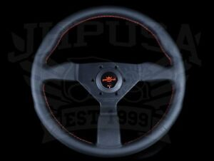 Personal Grinta 350mm Steering Wheel Blk Leather W Red Stitching 6497 35 2092 C