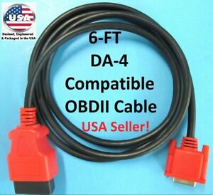 6ft Obdii Obd2 Cable Compatible With Da 4 For Snap On Scanner Solus Edge Eesc320