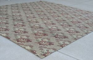 Antique American Civil War Period Ingrain Rug 136x144 Inches 4 Panels Conjoined