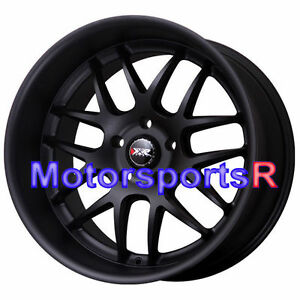 Xxr 526 18 X 9 20 10 5 25 Flat Black Deep Dish Lip Rims Staggered Wheels 5x4 5
