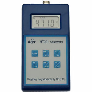 Ht Digital Gaussmeter With Peak Hold Can Display Gauss Or Tesla Dc Ac Meter