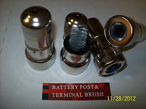 4 Pc Heavy Duty Brush Battery Terminal And Post Cleaner Brushes New