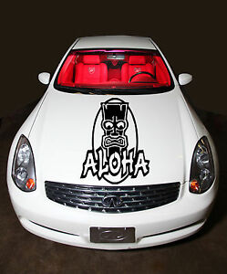 Aloha Hawaiian Abstract Cute Design Hood Vinyl Sticker Decals G194