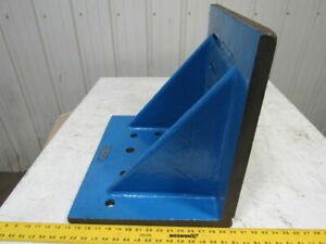 16 x20 x18 Giant Webbed Cast Machinist Vintage Slotted Set Up Angle Plate