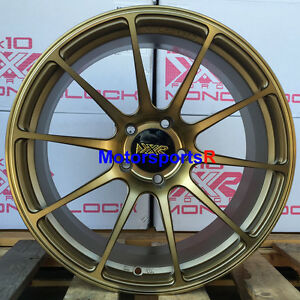 Xxr 527 Forged 18 X 10 25 Bronze Rims Wheels 5x114 3 15 Mitsubishi Evolution X