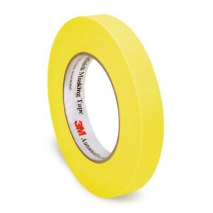 3m 06652 Automotive Refinish 8 Mm X 55 M Yellow Paper Masking Tape 48 Rolls