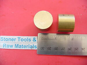 2 Pieces 3 4 Brass C360 Round Rod 1 Long H02 Solid New Lathe Bar Stock