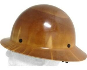 Msa Skullguard Full Brim Hard Hat With Ratchet Suspension Natural Tan