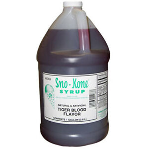 Snow Cone Shaved Ice Syrup 1 Cs 4 Gal 1283 Tiger Blood Flavor Ready To Use