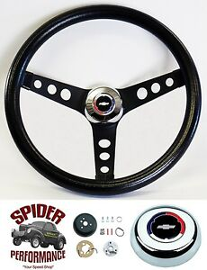 1967 Camaro Steering Wheel Classic Bowtie 13 1 2 Black Steering Wheel