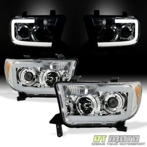 For 2007 2013 Toyota Tundra Pickup 08 17 Sequoia Led Tube Headlights Headlamps