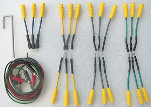 Waekon Electrical Spade Round Terminal Probe Adapter Test Lead Set 77202 77203