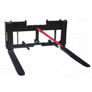 Titan Skid Steer 36 Pallet Fork 49 Hay Bale Spear Trailer Hitch Attachment