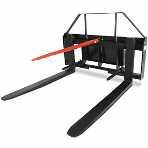 Titan 36 Pallet Fork Attachment W 39 Hay Bale Spear Toro Dingo Mini Skid Steer