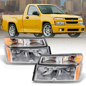 2004 2012 Chevy Colorado Gmc Canyon Headlights W Parking Corner Lamps 4pc 04 12