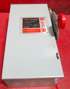 New Cutler Hammer 30 Amp Safety Switch Dh221nrk 240 Volt 2 Pole Outdoor 3r Eaton
