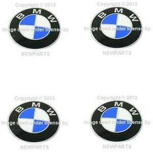 For Bmw E10 E12 530i Set Of 4 Wheel Center Cap Emblems 82 Mm Diameter Genuine