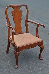Kittinger Williamsburg Mahogany Arm Chair Cw 151