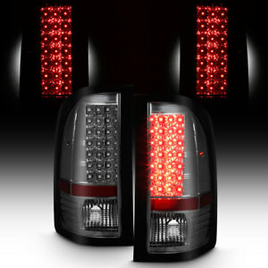 Smoked 2007 2013 Chevy Silverado Led Tail Lights Lamps Left Right Aftermarket