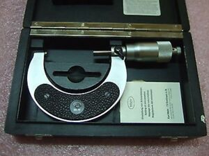 Carl Mahr 50 75mm Outside Micrometer With Original Box