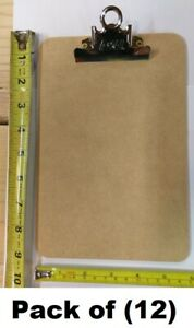 12 Ea A W 4008 6 X 9 Memo Sized Masonite Clipboards W Metal Spring Clip