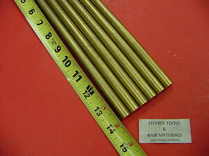 6 Pieces 1 2 C360 Brass Solid Round Rod 14 Long New Lathe Bar Stock H02 500
