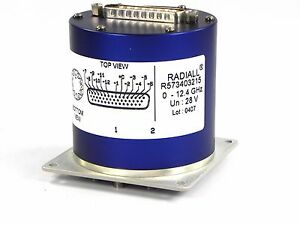 Radiall R573403215 Switch Rf Coxial 12 4 Ghz Sp12t Sma 28v