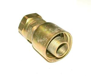 New Parker Hydraulic Hose Crimp Fitting For 2 Hose 2 Hex Nut