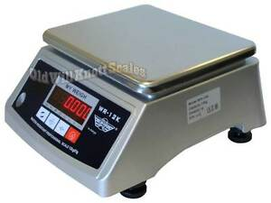My Weigh Wr 12k Water Resistant ip66 Washdown Scale Digital Balance 12kg X 1g