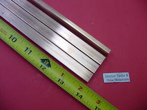 4 Pieces 1 4 x 1 2 C110 Copper Bar 14 Long Solid Flat 25 Bus Bar Stock H02